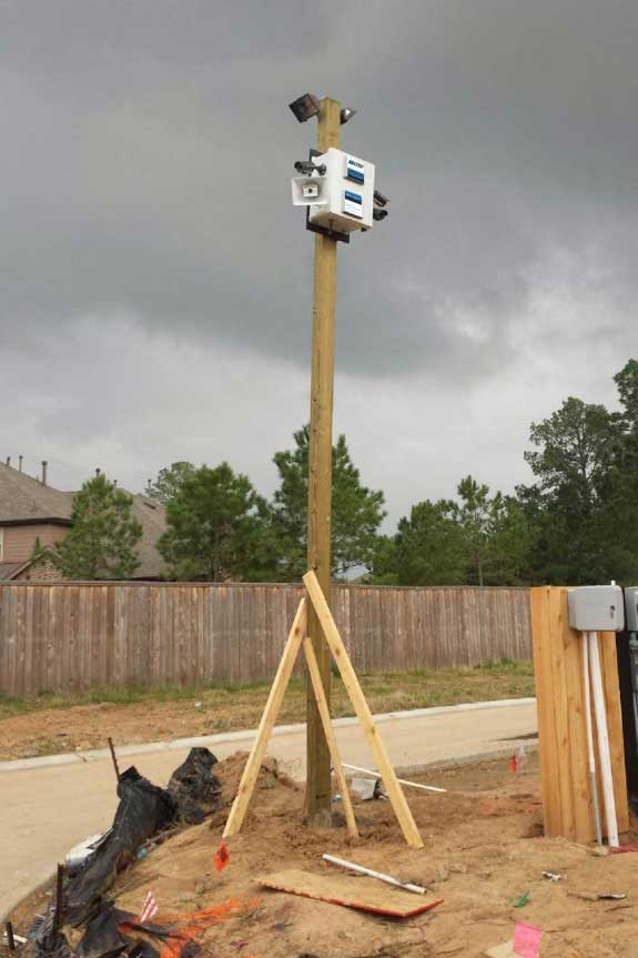 Pole Mounted Cameras at Construction Sites for Security